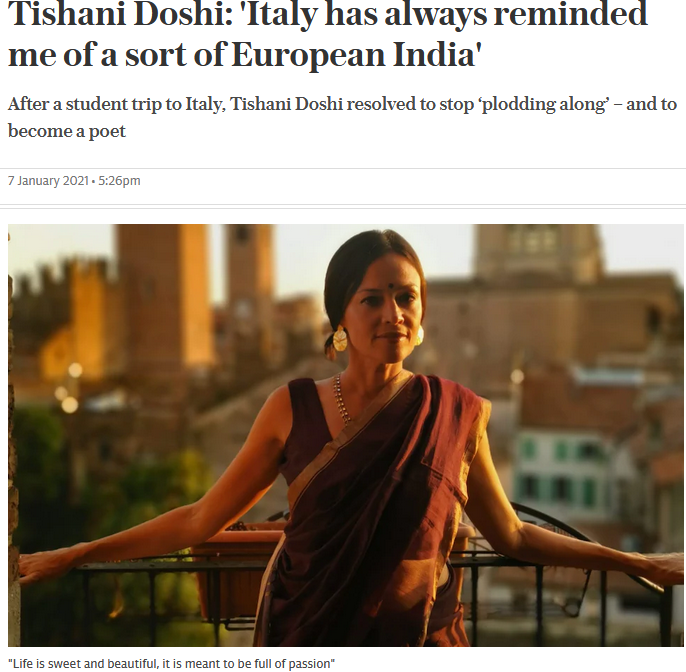 Tishani Doshi Interview in Telegraph Travel