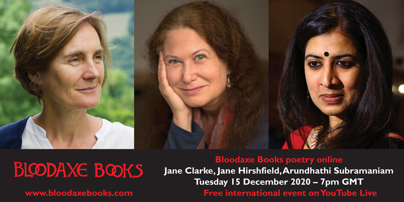 International reading by Jane Clarke, Jane Hirshfield & Arundhathi Subramaniam