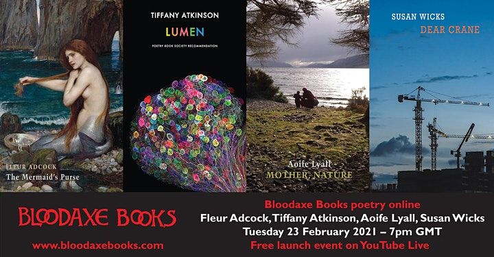 Launch reading by Fleur Adcock, Tiffany Atkinson, Aoife Lyall & Susan Wicks