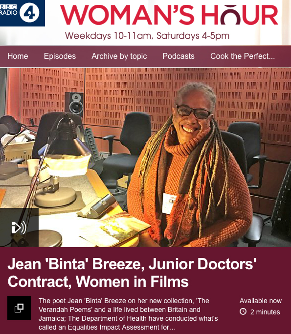 Jean 'Binta' Breeze on BBC Radio 4