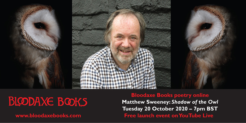 Matthew Sweeney's Shadow of the Owl – launch event