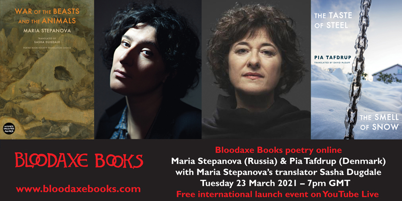 Launch reading by Maria Stepanova & Pia Tafdrup with Sasha Dugdale